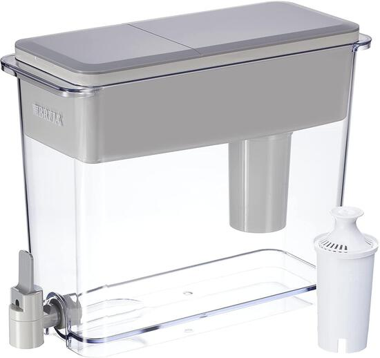 Brita Extra Large 18 Cup Filtered Water Dispenser with 1 Standard Filter, Gray (36223) - $31.88 MSRP