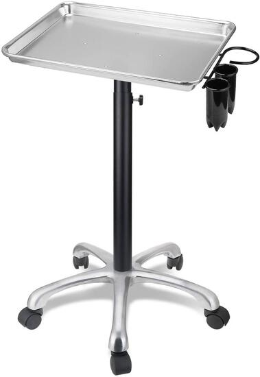 Salon Tray with Metal Feet, Aluminum Salon Tray with Removable Tools Holder - $68.74 MSRP