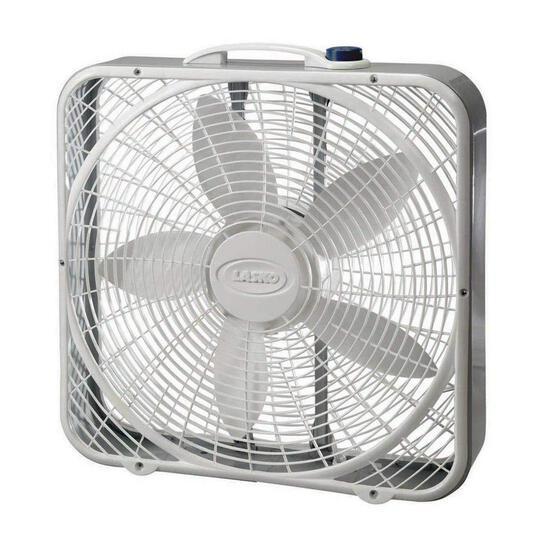 Lasko 3733 Box Fan, 3-Speed, 20-Inch, White - $25.99 MSRP