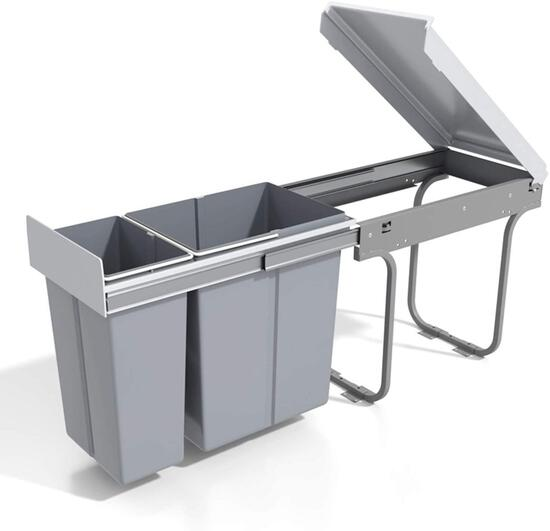 MYOYAY Double Pull Out Under Counter Trash Can with Lid 10L + 20L (8 Gallon) $145.99 MSRP