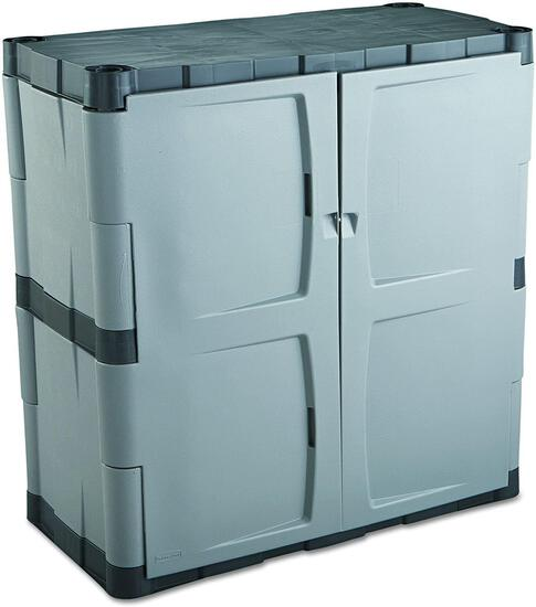 Rubbermaid Storage Small Cabinet with Doors, Lockable Storage Cabinet $148.92 MSRP