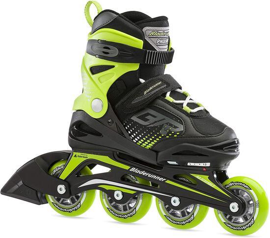 Bladerunner...By Rollerblade Phoenix Boys Adjustable Fitness Inline Skate, Black And - $60.59 MSRP