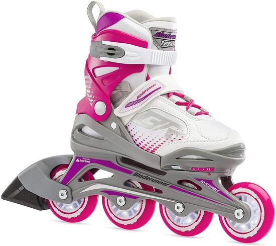 Bladerunner...By Rollerblade Phoenix Girls Adjustable Fitness Inline Skate, White And - $53.59 MSRP