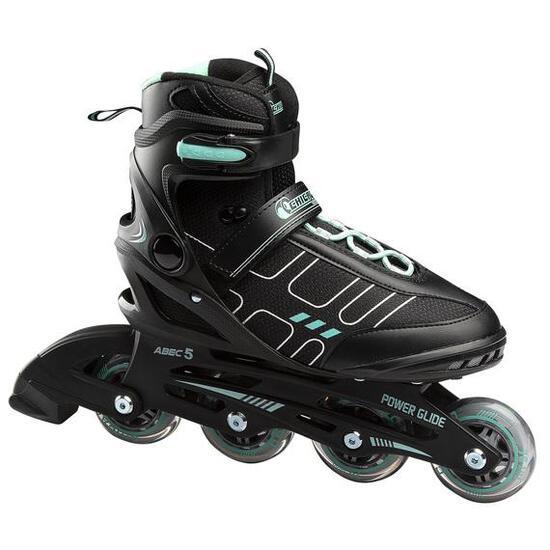 CHICAGO Women's Adjustable Inline Skates Black Combo, Size 9 - $69.99 MSRP
