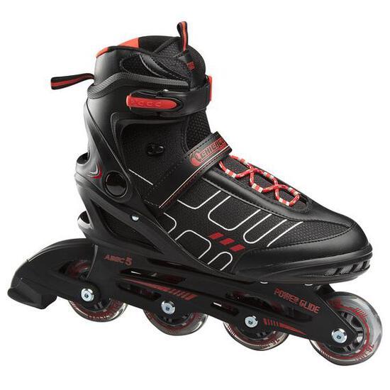 CHICAGO Men's Adjustable Inline Skates Black/Red, Size 12 - $69.99 MSRP