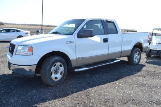 '05 FORD F150, EXTENDED CAB, 139,000 MI, 4WD, XLT, GAS, AUTO MATIC