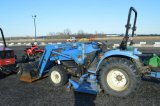 NH TC33B COMPACT TRACTOR W/ 240 LOADER, 1,700 HRS, W/ 914A 72
