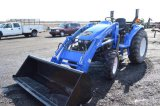 NH TC40 W/ 16LA LOADER, 4WD, 2,900 HRS, (NEW TIRES, FULLY SERVICED)