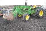 JD 2040 COMPACT TRACTOR W/ 520 LOADER, QUICK ATTATCH BUCKET AND BALE SPEAR,