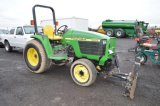 JD 4300 COMPACT TRACTOR W/ 4' BLADE, 605 HRS, 4WD, 3PT, PTO