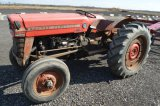 MF 135 W/ CAB, 12.4-28 REAR TIRES, SHOWING 864 HRS, 540 PTO, 3PT