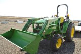2015 JD 4052M COMPACT, W/ D170 LOADER, 95.7 HRS, HYDRO, 4WD,      16.9-24 R