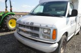 '00 CHEVY WORK VAN, W/ SUPREME UTILITY BOX, 3500 1TON, 2WD, GAS