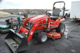 MF GC2400 COMPACT W/ DL100 LOADER, 4WD, 222 HRS, 62