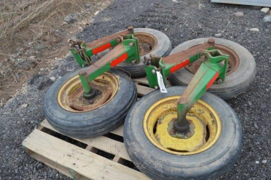 SET OF WHEELS FOR JD ROTARY MOWER