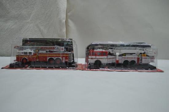 2-Seagrave ladder trucks (1/64 scale)