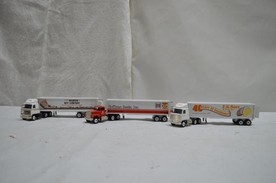 Winross truck collection: Weaver Nut, EK Bare & Sons Inc., Hoffman Seeds (3 pieces)