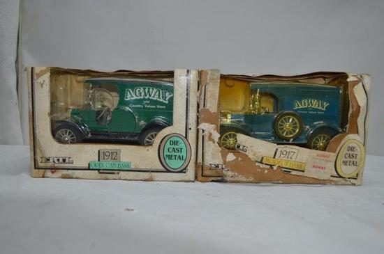 Agway bank trucks: 1912 Open Cab,  and 1917 Model T (2 pieces)