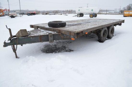 '98 custom 8' x 16' trailer, w/ electric brakes, VIN# NY57778