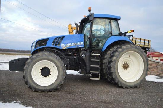 '12 NH T8 390 tractor w/ 1,200 hour, 6 remotes, front & rear duals, deluxe