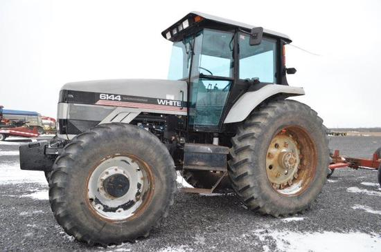 White Agco 6144 w/ 5,930 hrs, 16 speed power shift, 4wd, 50/1,000 PTO (new