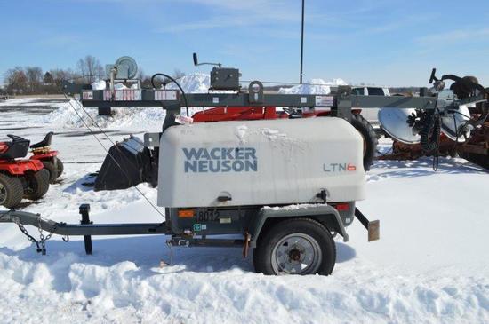 Wacker Neuson LTN6 Light plant w/ 5,375 Hrs. Kubota Diesel motor