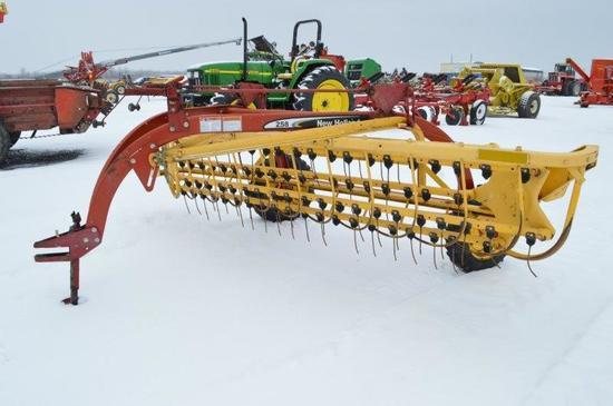 NH 258 9' hay rake, w/rubber teeth