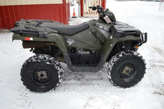 '14 Polaris Sportsman 570 EFI four wheeler w/ 4wd, 562 hrs, new brakes, VIN