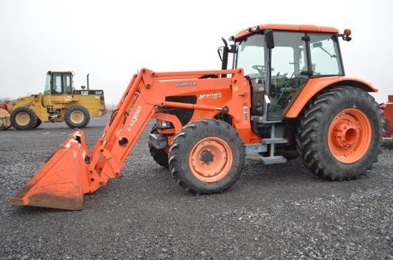 Kubota M108X w/ LA1301S self leveling loader, 1,836 hrs, power shift w/ lef