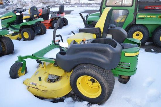 "JD Z665 zero turn lawn mower w/ 60"" deck, 507 hrs, 27 HP, gas"