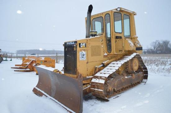 "Cat D4H Series II w/ 8'4"" 6 way blade, 19"" high rise tracks, 6,183 hrs, cab"