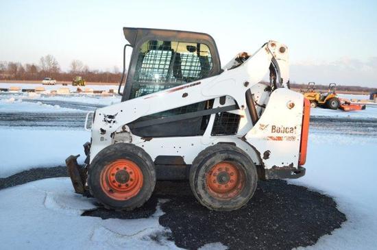 '14 Bobcat S570 skid loader w/ 9,874 hrs, quick attach, 10-16.5 rubber