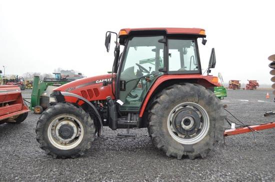 '10 CIH 105U tractor w/ 4wd, 16 speed partial power shift w/ left hand reve