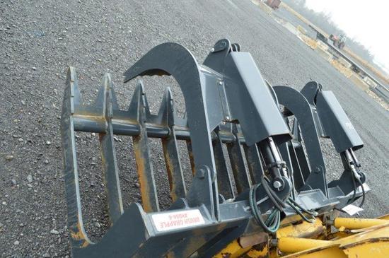 "Stout 84-6 84"" skid mount heavy duty grapple bucket"