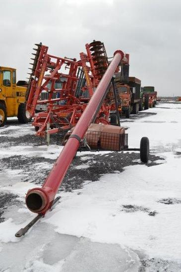 Jamesway manure load pipe w/transport,3 sections 50' hose