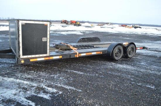 '87 Rebel trailer,20' w/ ramps,tandam axel, and cago box, VIN# CC0140RDT013