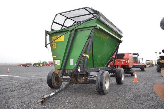 Victor 50 15' forage dump wagon w/ 435/65R22.5 tires