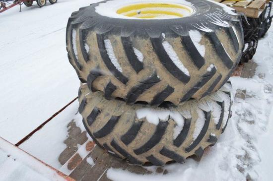 23.1-26 Tires and rims, 9 lug rims