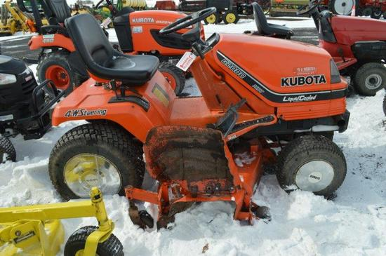 Kubota G2000 riding mower; hydrostatic drive, 48'' cut, 1,800.7 hrs, 4w ste