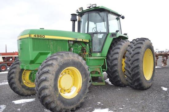 JD 4960 tractor w/ 15 speed power shift w/ left hand reverser, 11,000 hrs,