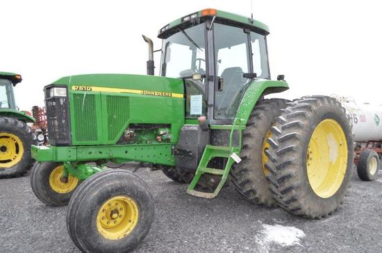 '00 JD 7610 W/ 6,800 hrs, 19 speed power, 2wd, 3 remotes, 540/ 1000 PTO, 18