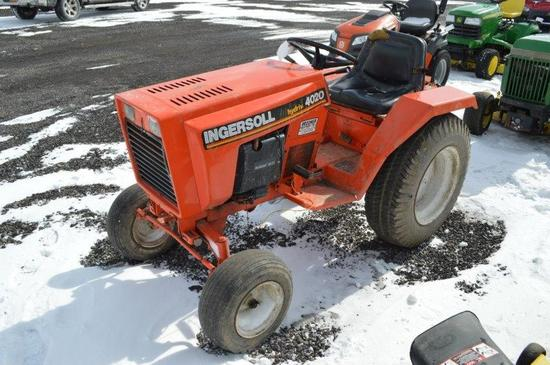 Ingersoll Hydriv 4020 lawn tractor w/ 1,041 hrs, no deck