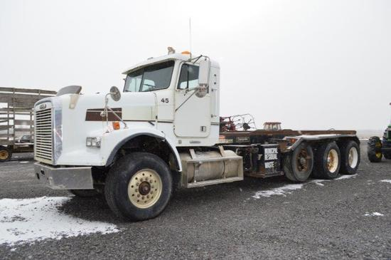 '97 Freightliner w/ dumping rolloff, Bempster dump body, Cummins M14 425HP