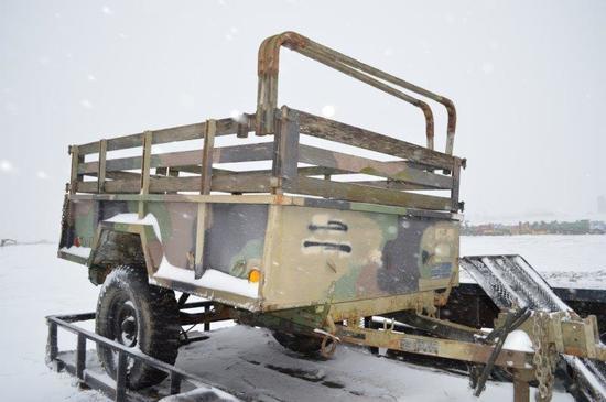 '90 Kasel 8' military trailer w/ tarp, VIN# GN450640