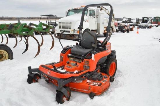 """Kubota ZLT 227 zero turn lawn mower w/ 60"""" deck, 187 hrs, gas"""