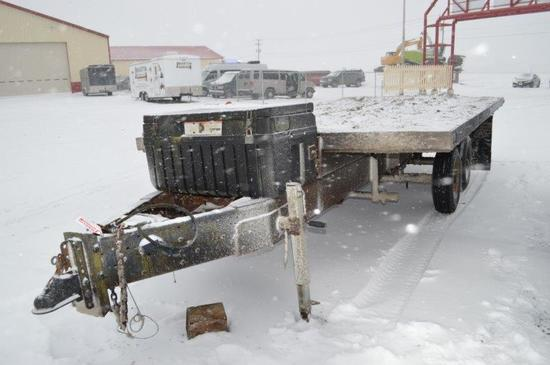 '81 Custom, 16', wooden dump trailer IH gear w/ Tuff-bin tollbox, VIN# A320
