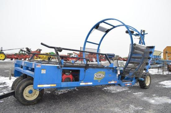 '15 Kemco bale tube wrapper w/ Honda JX630 motor, (like new)
