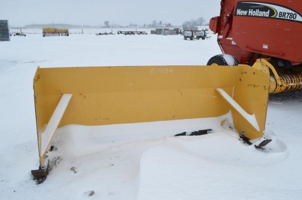 """7'7"""" Skid mount snow scraper"""