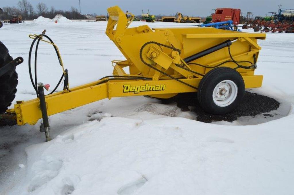 Degelman rock picker HYD Dump, wheel drive, (nice)