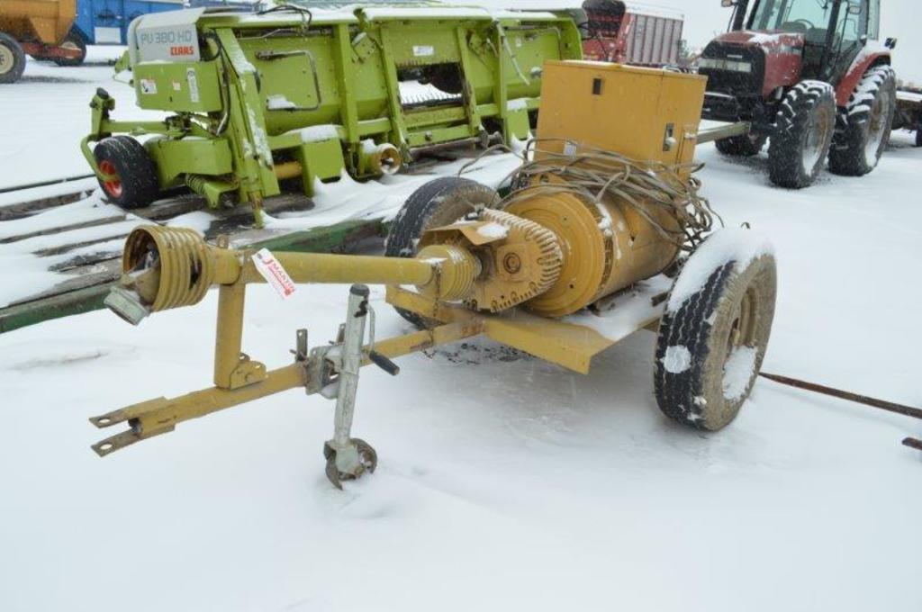Catolight 75kw generator, 1,000 pto, transport cart, (works good)
